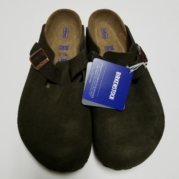 7705d6a667c4 New Birkenstock Boston Mocha Soft Footbed Clogs